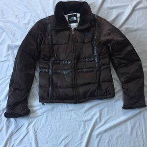 The North Face 550 down faux fur bomber jacket